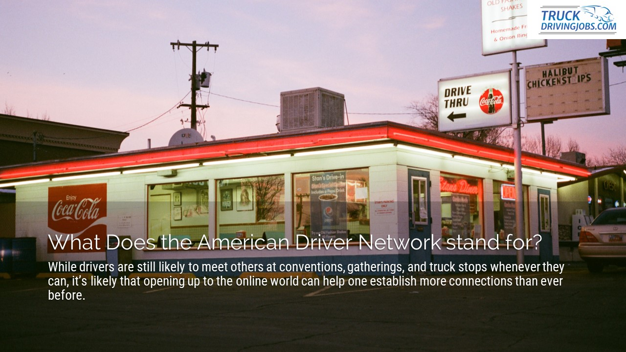 American Driver Network TruckDrivingJobs.com Slide1