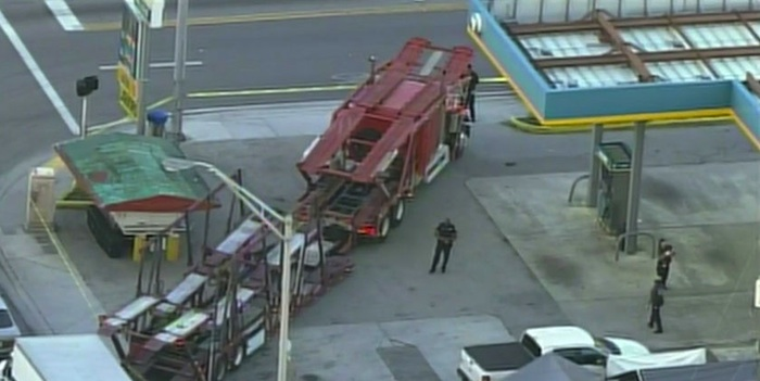 truck driver killed at Valero gas station