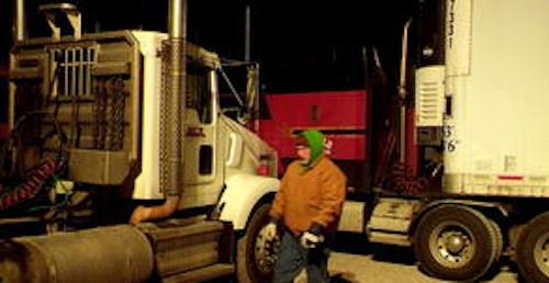 truck driver steals fuel