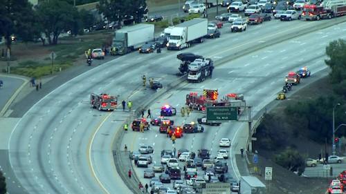 Big Rig Crash 210 Freeway