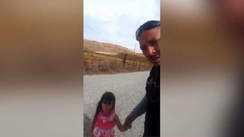 truck driver rescues toddler