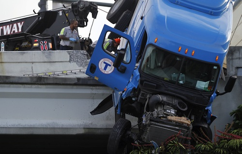 Truck driver rescued in Florida