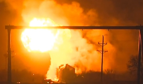 tanker and train explosion