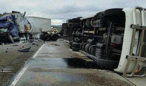 Truck driver dead