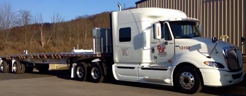 PGT trucks at the fleet yard