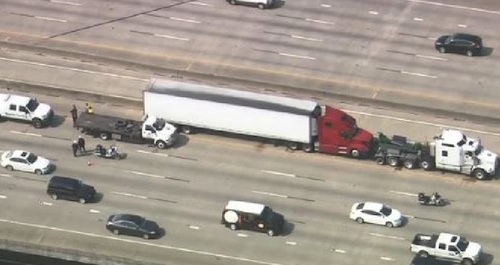 truck driver shot in Houston