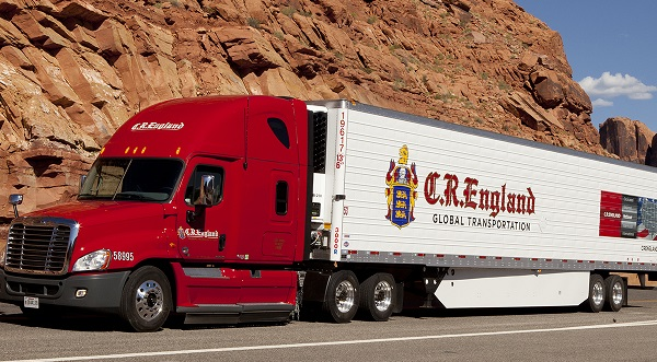 CR England Truck Mountain Road