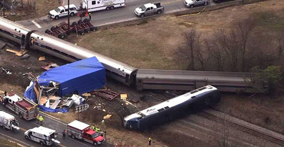 Truck Train Collision