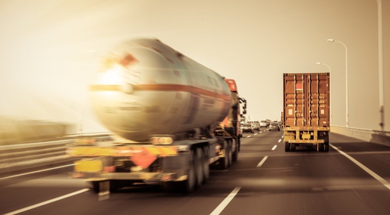 Hazmat loads share the road with conventional freight
