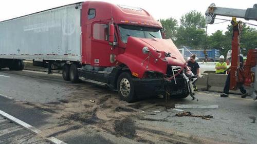 truck driver arrested I-67 pile-up