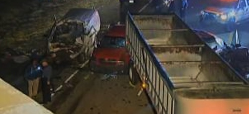 3 dead in chain reaction crash