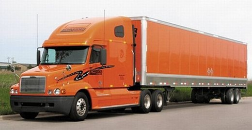 Schneider Orange Truck