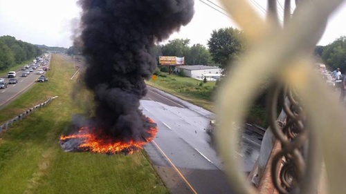 tanker truck fire