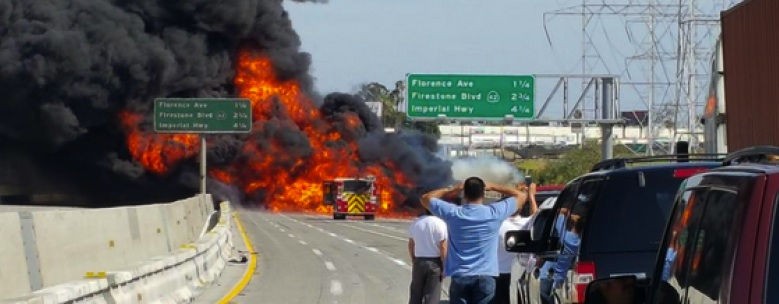 Tanker Fire On 710 Freeway