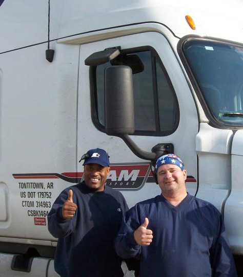 team drivers thumbs up