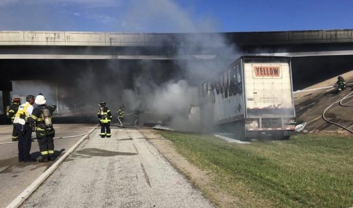 truck driver dead after striking bridge