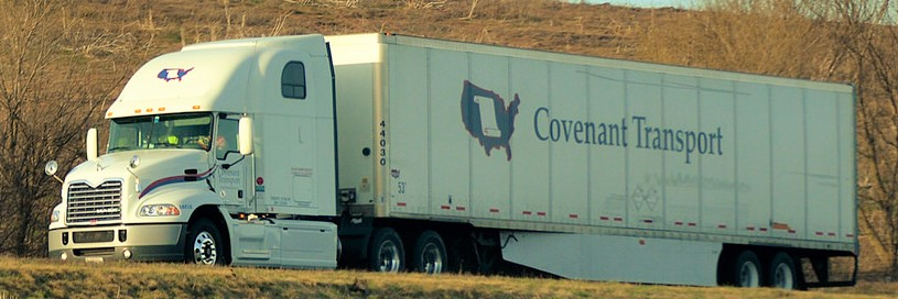 Covenant truck on the way to a client