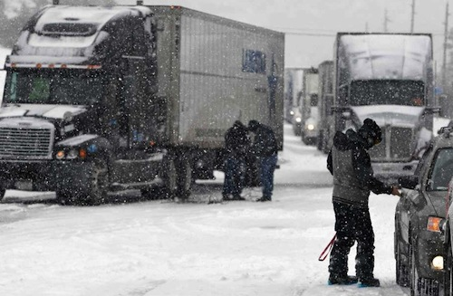 truck drivers stranded
