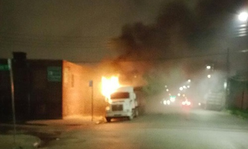 Semi-trucks burned in Brooklyn