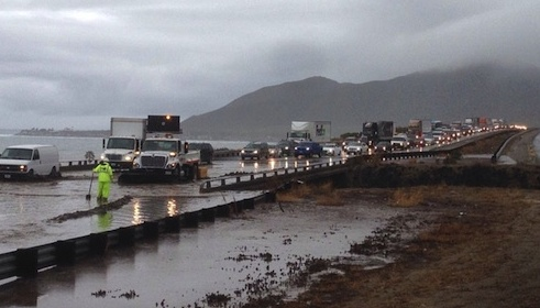 severe weather hits California
