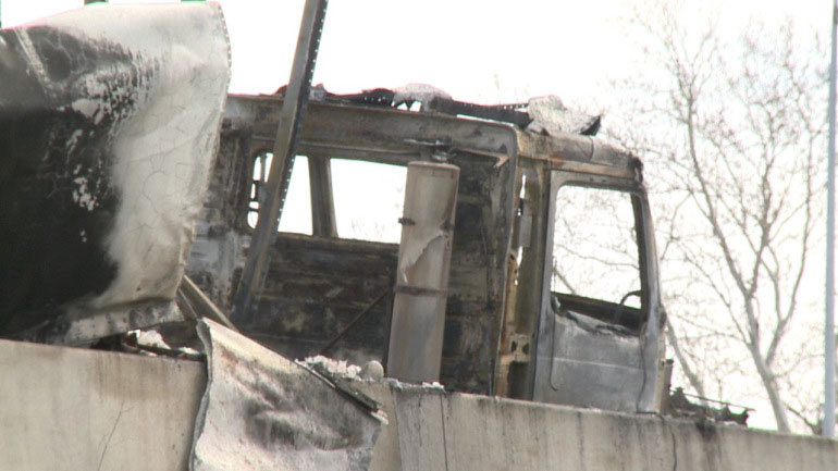 Truck In Flames