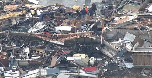 Homes destroyed in Missouri tornado