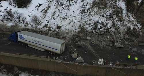 rockslide forces I-70 closure