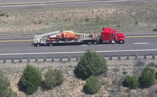 spikes stop truck driver on I-40