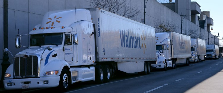 The Walmart fleet is ready to deliver