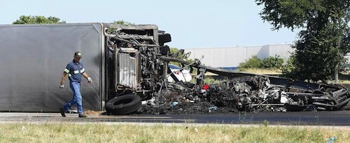 truck driver killed on Texas 183