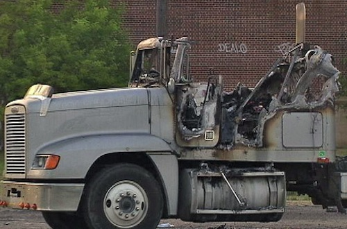 Truck driver Michael Boeglin was killed and burned
