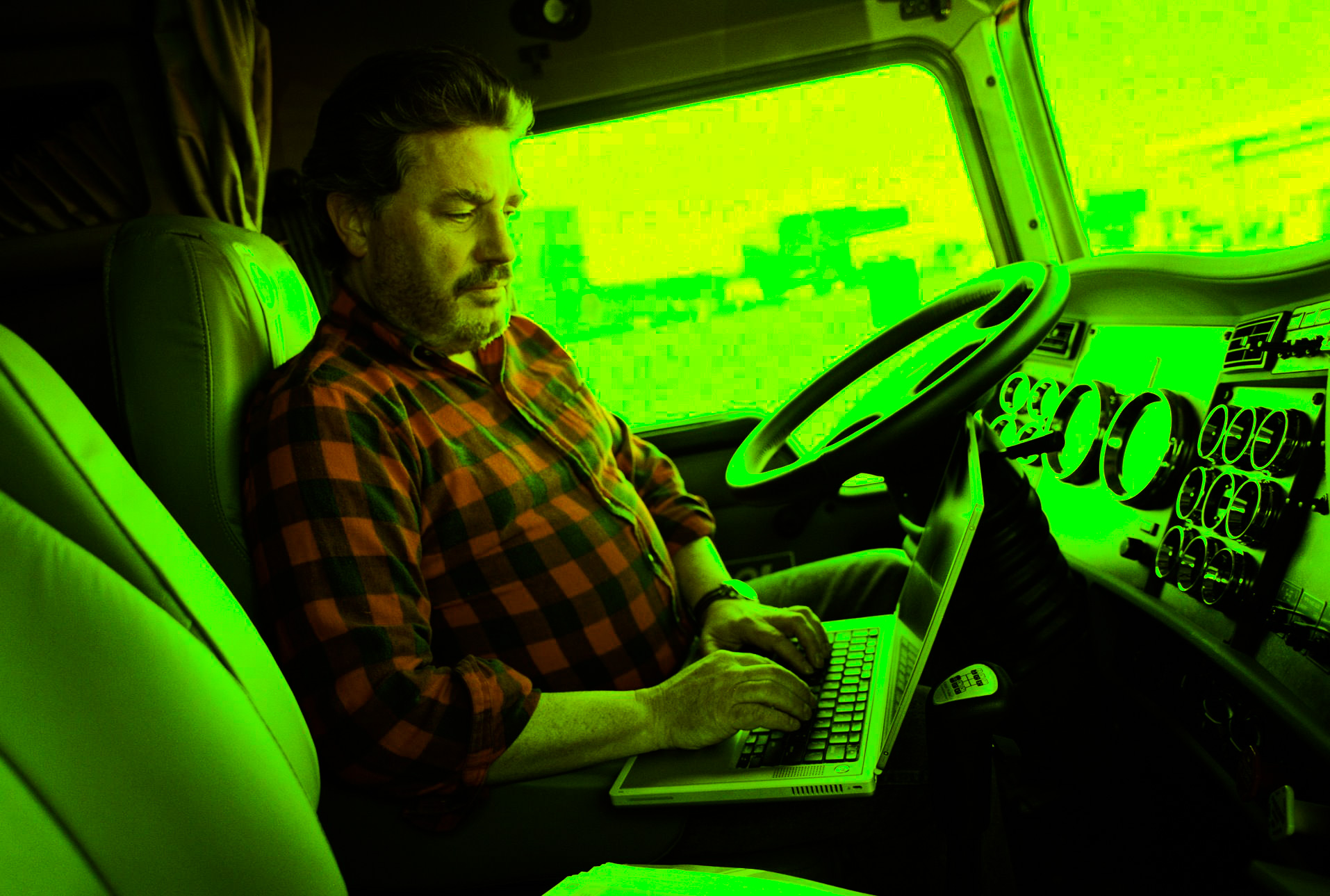 Driver reviewing online