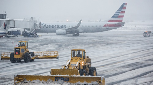 Winter storm Stella cancels flights
