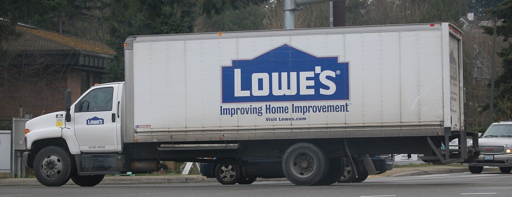 Lowes truck ready to deliver to homes