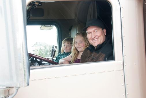 Truck Driving With Children Passengers