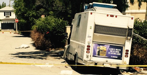 catering truck crashed into beehive