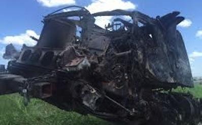 officer causes I-35 crash