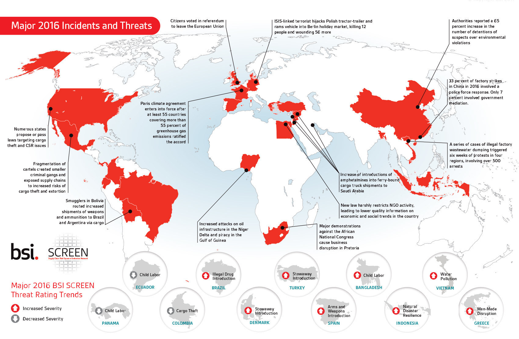 United States Saw Record Cargo Theft Natural Disasters Impact - Us map potential natural disasters