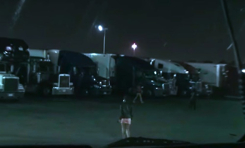 Human trafficking at truck stops