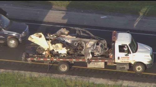 honda burned in crash
