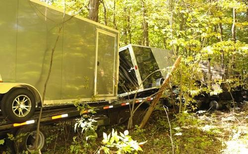 truck driver hits ambulance