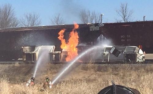 firefighters fight tanker fire
