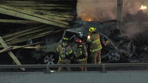 fiery crash kills five