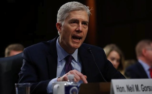 Gorsuch defends frozen trucker ruling