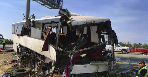 California bus crash kills four