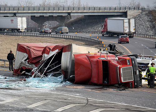 Another Truck Rollover