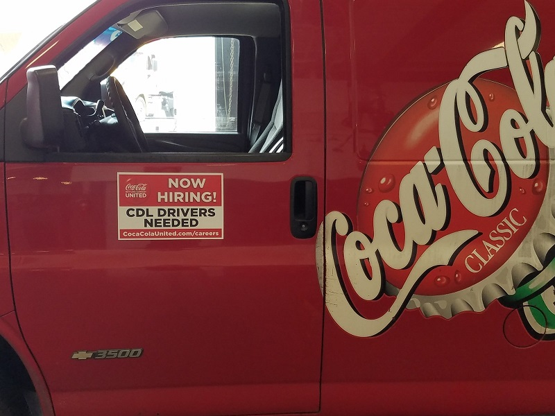 Coca-Cola Using Trucks To Promote Jobs For Drivers In Atlanta
