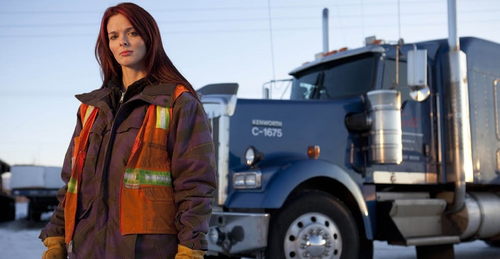 Lisa Kelly is a true ice road trucking hero