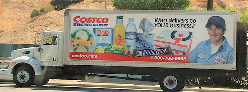 Costco Truck with many items inside
