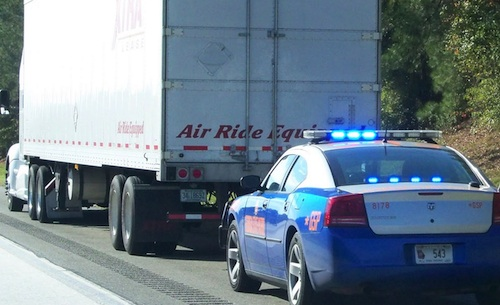 Truck driver pulled over in New Jersey